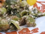 Grilled Cream Cheese Balsamic BrusselsSprouts