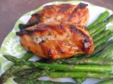 Grilled Basil Chicken with Pepper Jelly