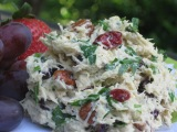 Curried Cranberry Pecan Chicken Salad…Quick and Light!
