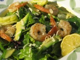 Roasted Shrimp and Avocado Citrus Greens